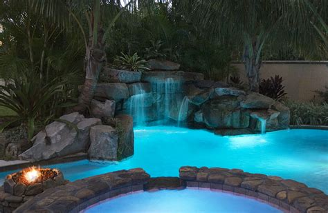 Image result for free images of pool living spaces lit up at night