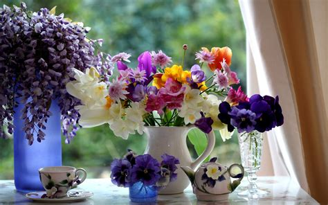 Image result for free images of at summer flowers in vases