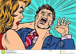 Image result for cartoon of being strangled